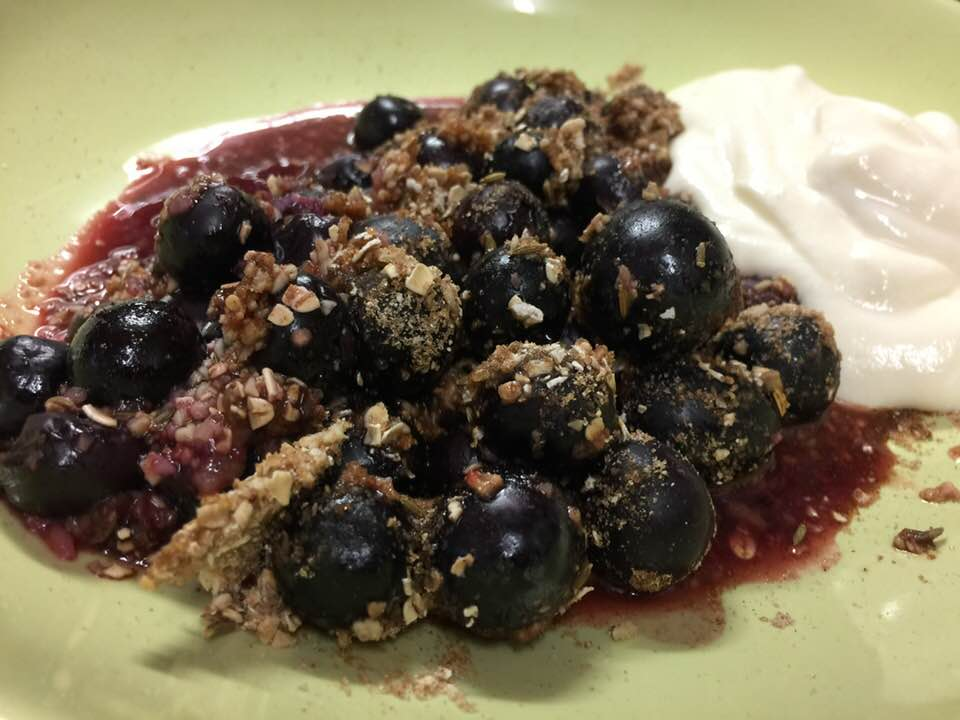 Blueberry, Black Grape, Almond Oat Crisp